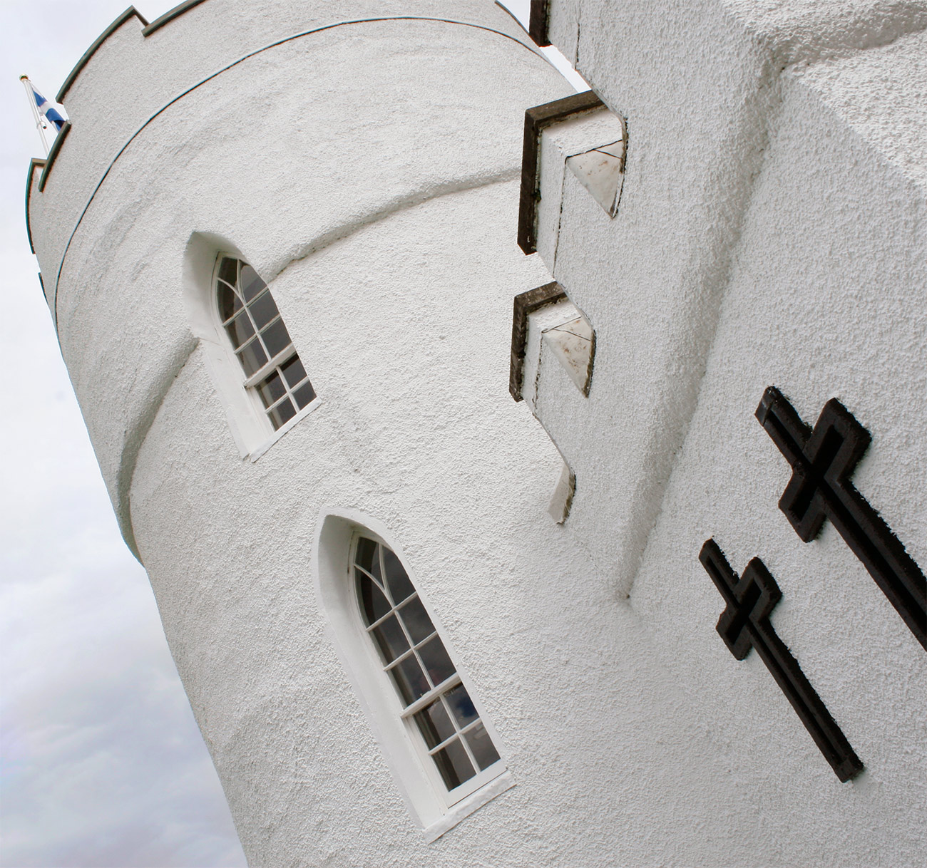 White Tower close-up with arched windows