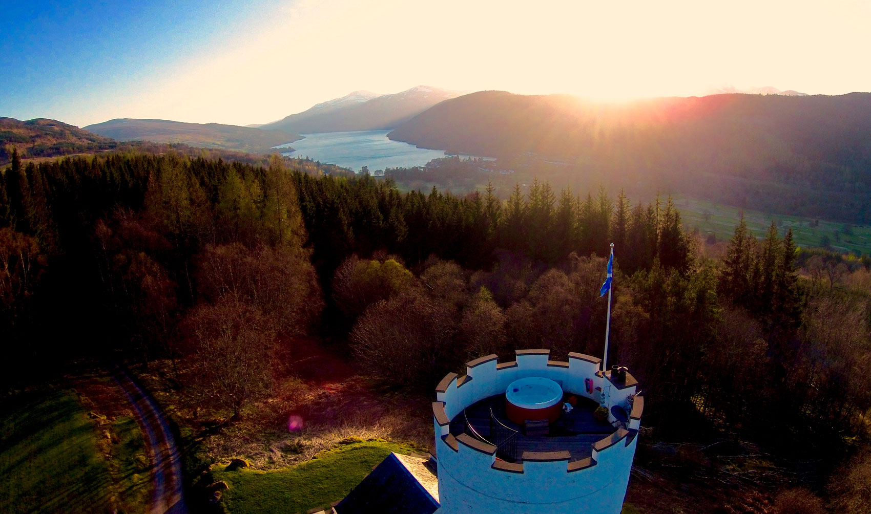 The White Tower Hot Tub View